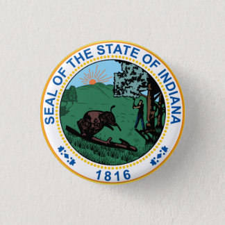Seal of the State of Indiana Button