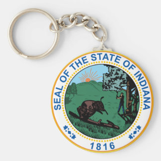 Seal of the State of Indiana Keychain