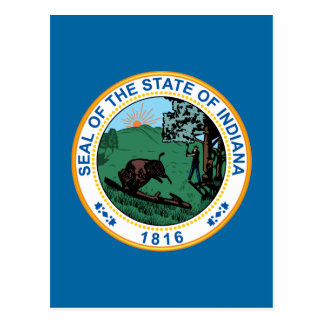 Seal of the State of Indiana Postcard