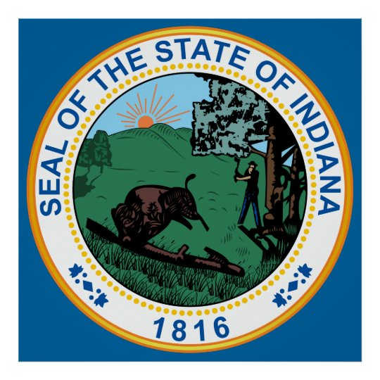 Seal of the State of Indiana Poster