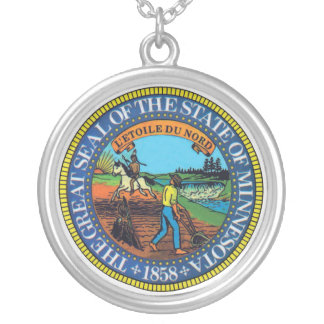 Seal of the State of Minnesota Silver Plated Necklace