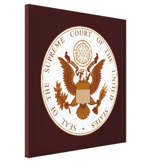 Seal Of The United States Supreme Court Canvas Print