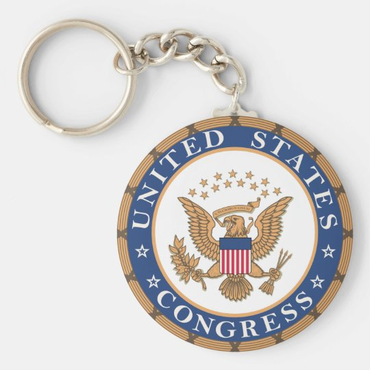 Seal of the US Congress Court Keychain