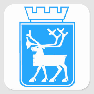 Seal of Tromso, Norway. Square Sticker