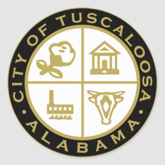 Seal of Tuscaloosa, Alabama Classic Round Sticker