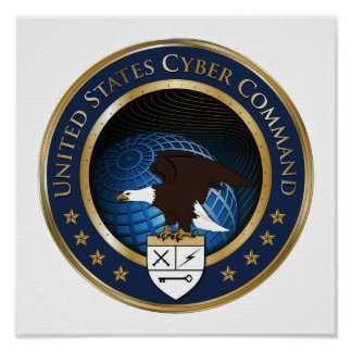 Seal of US Cyber Command Poster