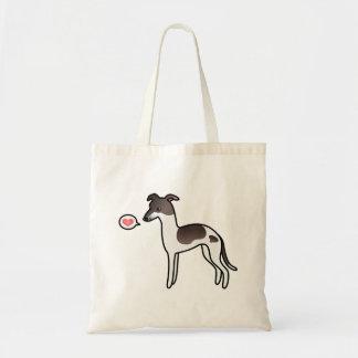 Seal Pied Italian Greyhound Love Canvas Bag