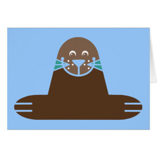 Seal Pinnipeds Marine Semiaquatic Mammals Cute Greeting Card