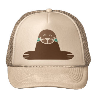 Seal Pinnipeds Marine Semiaquatic Mammals Cute Trucker Hats