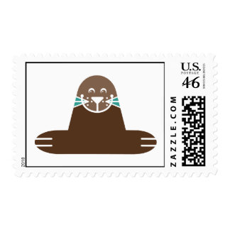 Seal Pinnipeds Marine Semiaquatic Mammals Cute Postage Stamp