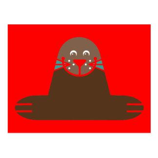 Seal Pinnipeds Marine Semiaquatic Mammals Cute Postcard