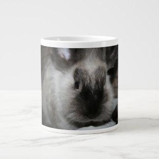 seal point rabbit head cute bunny photo jumbo mugs