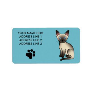 Seal Point Siamese Cat Label