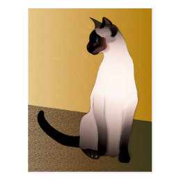 Seal Point Siamese Cat Postcard