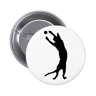 Seal Point Siamese Cat Silhouette Badge Button