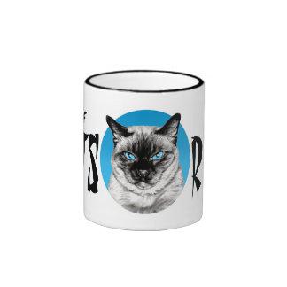 Seal Point Siamese Circle Ringer Coffee Mug