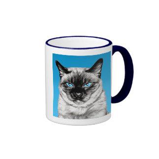 Seal Point Siamese Ringer Coffee Mug