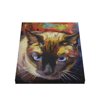 Seal Point Siamese Painting Canvas Print