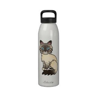 Seal Point Tabby Birman / Ragdoll Cat Water Bottles