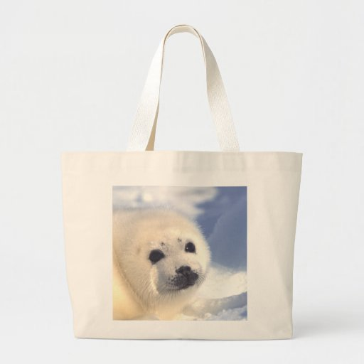 Seal Pup Face Tote Bags