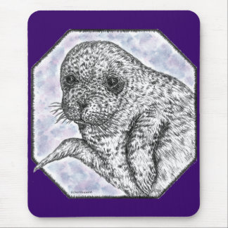 seal pup mouse pad