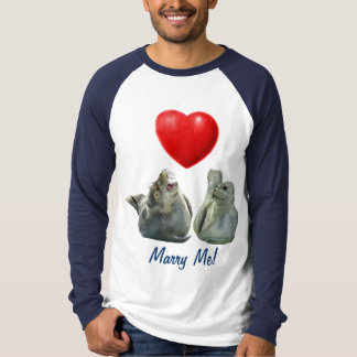 "SEAL PUP Seal-Lover ""Marry Me"" Mens Shirt"