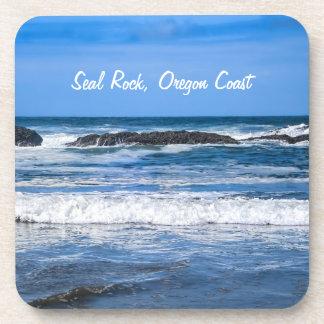 Seal Rock Oregon Coast On Pacific Ocean Beverage Coaster