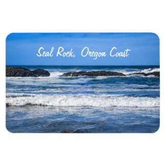 Seal Rock Oregon Coast On Pacific Ocean Magnet