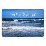 Seal Rock Oregon Coast On Pacific Ocean Rectangular Photo Magnet