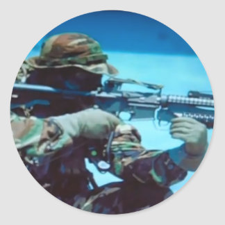 SEAL SNIPER CLASSIC ROUND STICKER