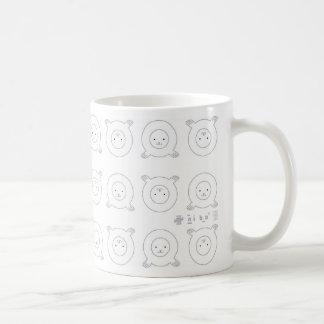Seal style classic white coffee mug