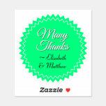 "[ Thumbnail: Seal Style Thankful, Grateful ""Many Thanks"" Sticker ]"