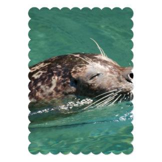 Seal Swimming 5x7 Paper Invitation Card