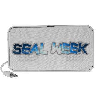 Seal Week Doodle Speakers