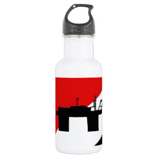 Sealand flag water bottle