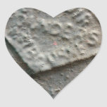 Sealed -- Antique metal makers seal. Heart Sticker