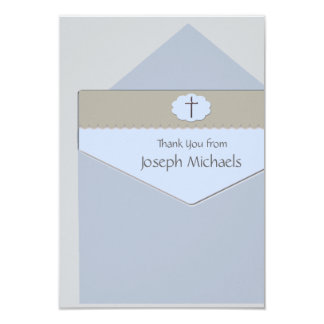 Sealed with a Blessing Religious Thank You Card