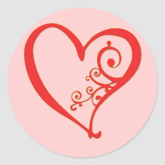 Sealed with a Heart Classic Round Sticker