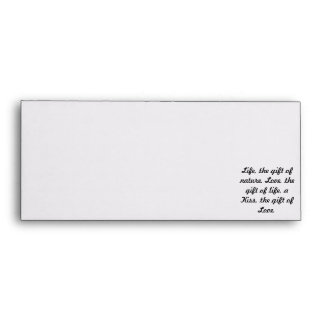 Sealed with a Kiss...A Kiss is a gift of love card Envelope