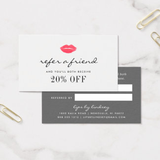 Sealed With a Kiss | Beauty Business Referral Business Card