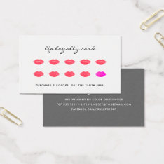 Sealed With A Kiss | Beauty Loyalty Business Card at Zazzle