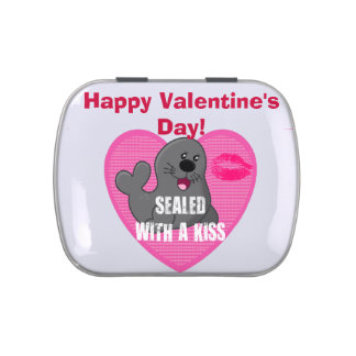 Sealed With a Kiss - Happy Valentine s Day Jelly Belly Candy Tin