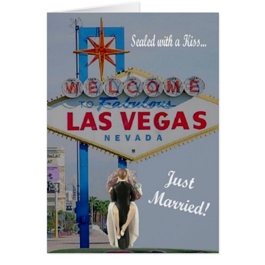 "Sealed with a Kiss ""Just Married"" Las Vegas Card"