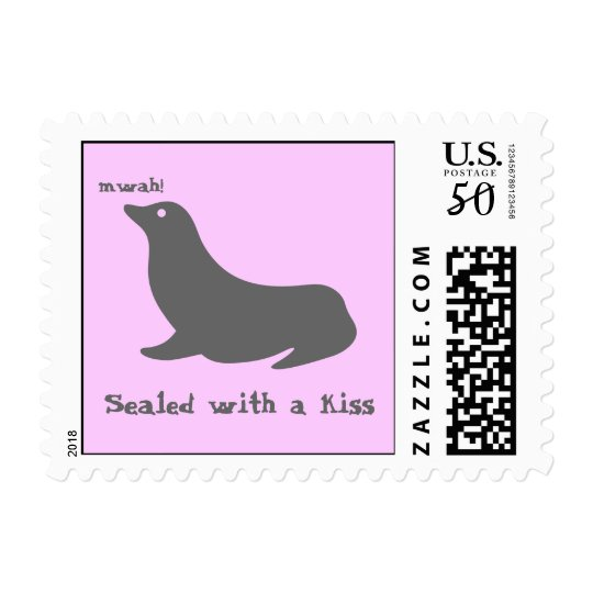 Sealed with a kiss postage