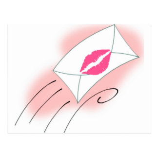 Sealed With A Kiss Postcard