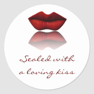 Sealed with a Loving Kiss Envelope Seals Round Sticker