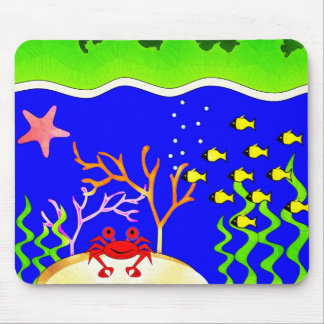 Sealife Cute tropical island Mouse Pad