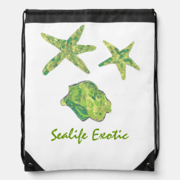 Sealife Exotic Drawstring Bag