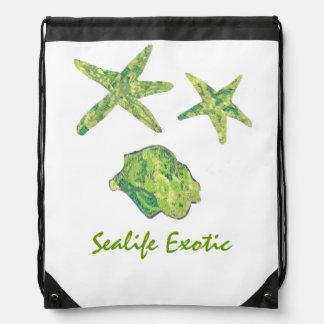 Sealife Exotic Drawstring Backpacks