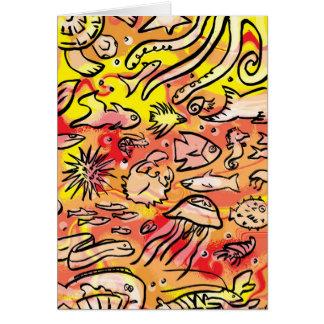 sealife greeting card